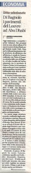 La Stampa 11/11/2017 - LO.PI.CA. and the Louvre Museum in Abu Dhabi